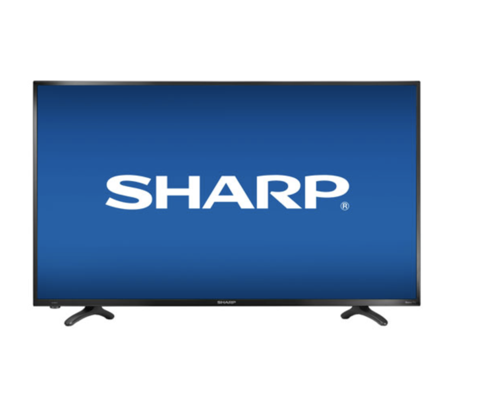 "Sharp 43"" 4K UHD LED Roku OS Smart TV , Best Buy, $300 (originally $450)."
