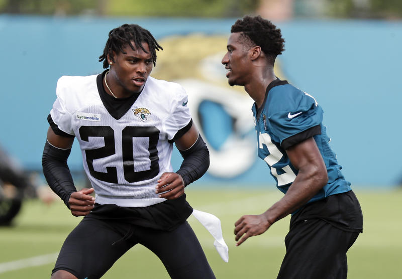 Jacksonville Jaguars cornerback Jalen Ramsey, left, passed on the chance to be critical of opposing NFL quarterbacks. (AP)
