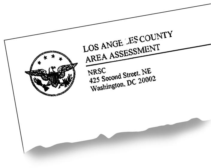 "The L.A. County assessor says a recent GOP fundraising letter seems to have tried to trick recipients into thinking it was from his office. <span class=""copyright"">(Photo illustration by Jerome Adamstein / Los Angeles Times)</span>"