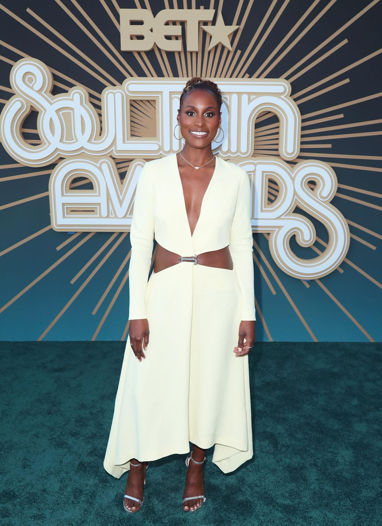 Issa Rae at the 2019 Soul Train awards presented by BET in Las Vegas on Nov. 17.