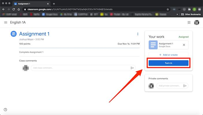 How to submit an assignment in Google Classroom   7