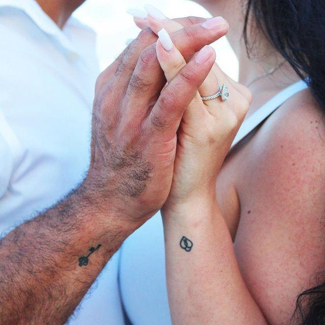 """<p>*Cries happy tears because of how beautiful this is.* But, seriously—how cute is this tiny couples tattoo?</p><p><a href=""""https://www.instagram.com/p/BfvX2A1HGCC/?utm_source=ig_embed&utm_campaign=loading"""" rel=""""nofollow noopener"""" target=""""_blank"""" data-ylk=""""slk:See the original post on Instagram"""" class=""""link rapid-noclick-resp"""">See the original post on Instagram</a></p>"""