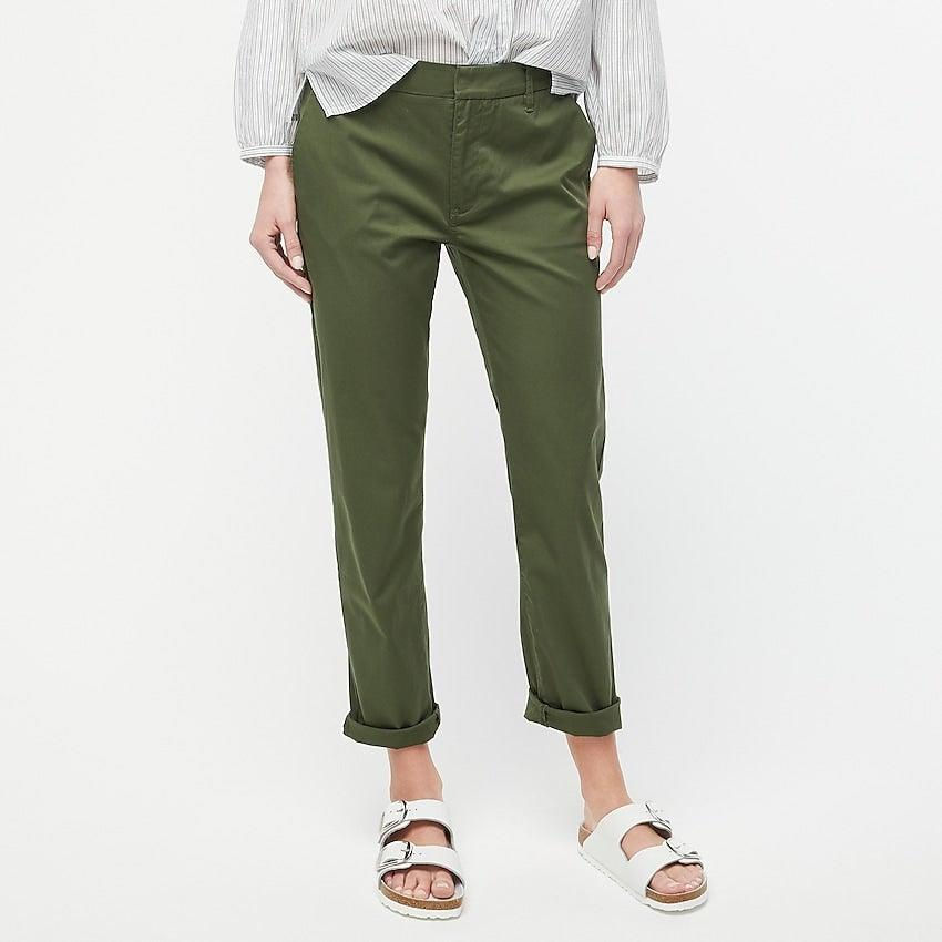 """<br><br><strong>J. Crew</strong> Slim boyfriend chino pant, $, available at <a href=""""https://go.skimresources.com/?id=30283X879131&url=https%3A%2F%2Fwww.jcrew.com%2Fp%2Fwomens%2Fcategories%2Fclothing%2Fpants%2Frelaxed%2Fslim-boyfriend-chino-pant%2FAV254%3Fdisplay%3Dstandard%26fit%3DClassic%26color_name%3Dnatural%26colorProductCode%3DAV254"""" rel=""""nofollow noopener"""" target=""""_blank"""" data-ylk=""""slk:J. Crew"""" class=""""link rapid-noclick-resp"""">J. Crew</a>"""