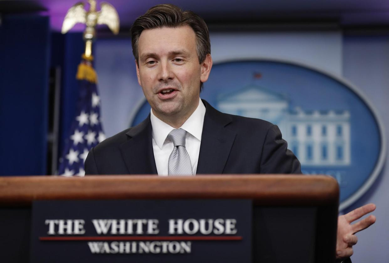 White House Press Secretary Josh Earnest speaks during the daily news briefing on Nov. 29. Earnest discussed the funeral of Fidel Castro, flag burning and other topics. (Photo: Carolyn Kaster/AP)