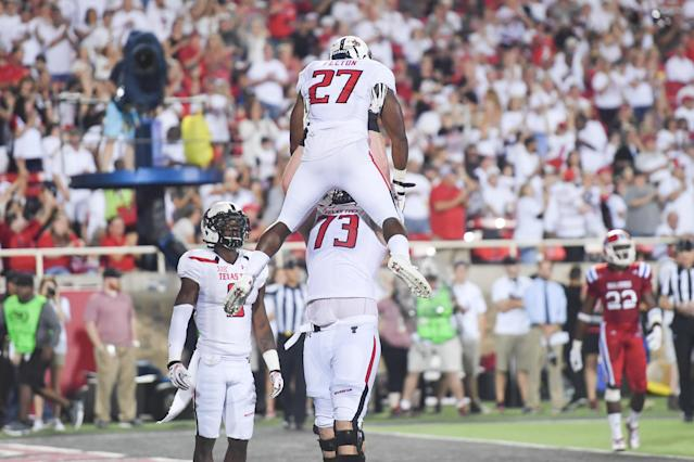 Justin Murphy (73) was a starter during his time at Texas Tech before injuries caused him to step away from the game. (Photo by John Weast/Getty Images)