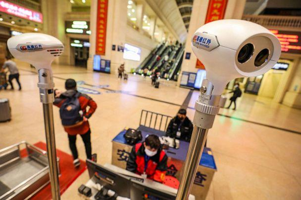 PHOTO: A picture taken Jan. 21, 2020, shows thermal scanning equipment set up in Hankou railway station in Wuhan, in China's central Hubei province. (Str/AFP via Getty Images)