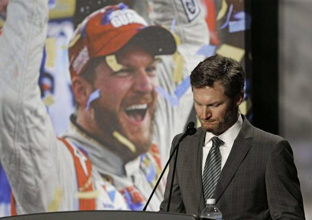 Dale Earnhardt Jr. formally announces his retirement from NASCAR Cup racing. (AP)