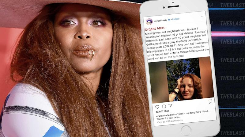 Erykah Badu Pleads With Fans For Help Finding Daughters