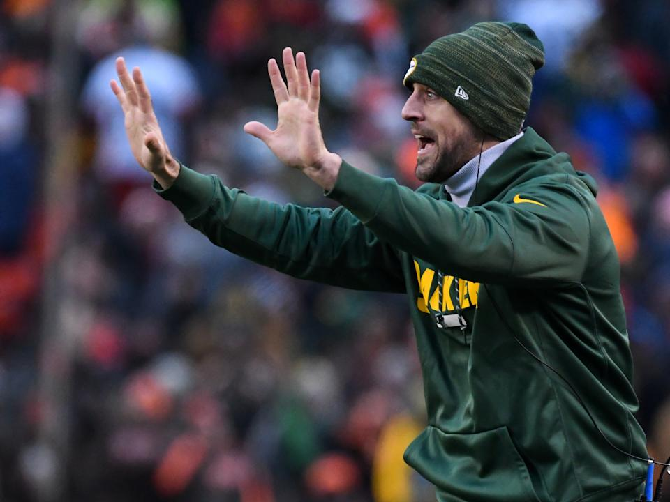 Aaron Rodgers, pictured in 2017, never missed a Packers offseason program until this year. (Nick Cammett/Diamond Images/Getty Images)