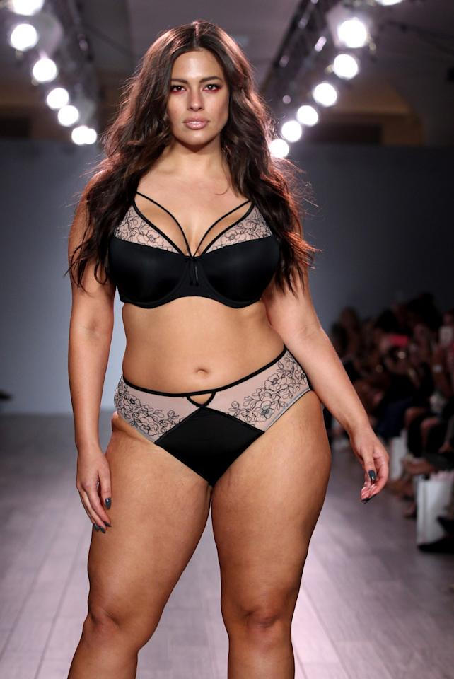 "<p>The star of the show struts her stuff! Ashley Graham, who collaborated with Addition Elle on her own lingerie line, walked the runway in a set of her own design. ""I'm so proud of how far my lingerie line with @AdditionElle has gone! Second year showing at #NYFW is a dream come true!"" she shared on Instagram. ""For any girl or woman who has ever felt that they weren't represented in fashion/TV/media because of your size — you are now and forever will be! #beautybeyondsize."" <em>(Photo: Getty Images)</em> </p>"