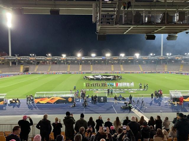 Manchester United played LASK behind closed doors in March before football was suspended