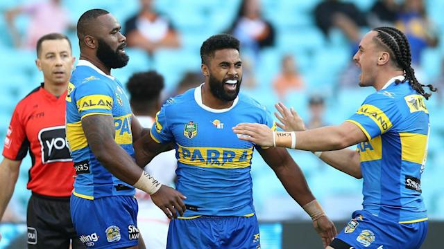 Wests Tigers looked set to record a second win in succession on Monday, but Parramatta Eels came on strong in the final quarter to prevail.