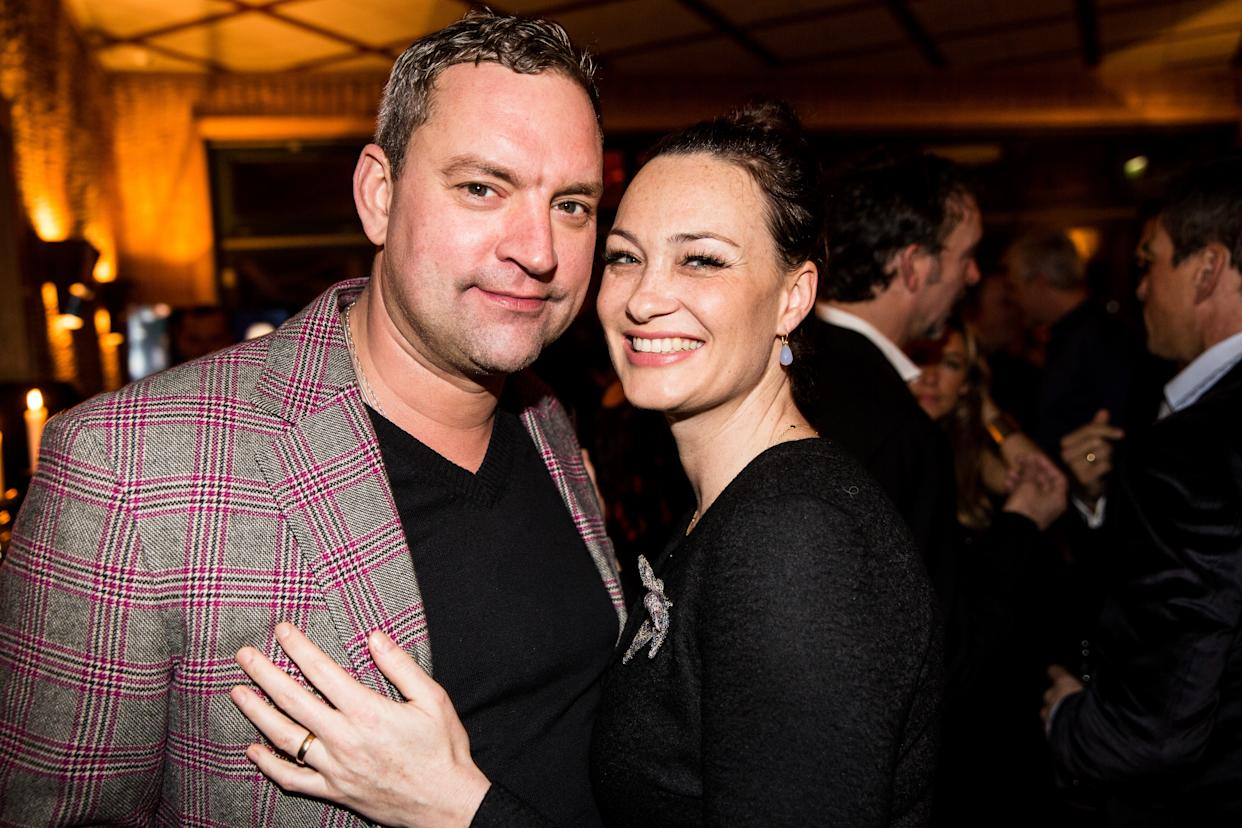 BERLIN, GERMANY - DECEMBER 06: Christian Kahrmann and and wife Sandhya Mierswa attend the 40th birthday party of Franziska Knuppe on December 06, 2014 in Berlin, Germany.  (Photo by Clemens Porikys/Getty Images)