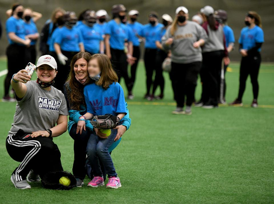 The softball event for the young girl.