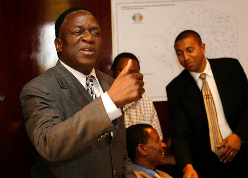Emmerson Mnangagwa, seen here during elections in 2008, is poised to becomeZimbabwe's new leader.