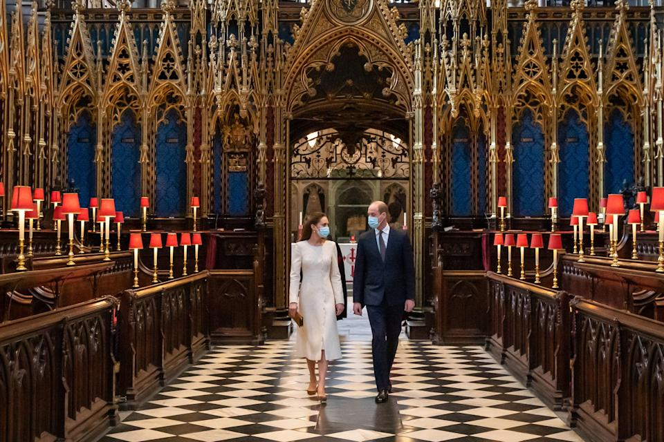 Kate Middleton and Prince William at Westminster Abbey in 2021