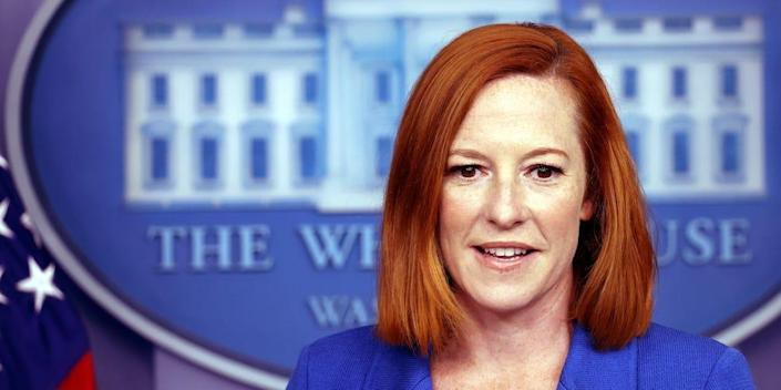 White House Press Secretary Jen Psaki speaks at a press briefing in the White House on August 02, 2021.