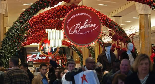 Shoppers in the Macy's Herald Square flagship store in New York on Black Friday