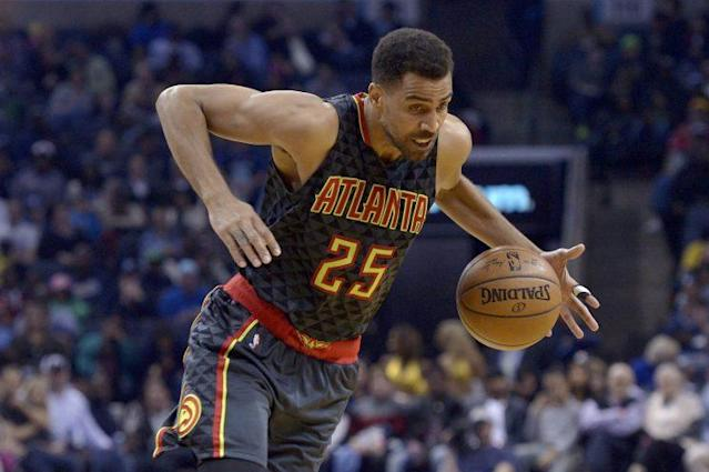 "<a class=""link rapid-noclick-resp"" href=""/nba/players/4141/"" data-ylk=""slk:Thabo Sefolosha"">Thabo Sefolosha</a> has played 11 NBA seasons. (AP)"