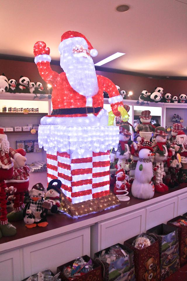 Check out the very nice displays inside the Christmas Village flea market.