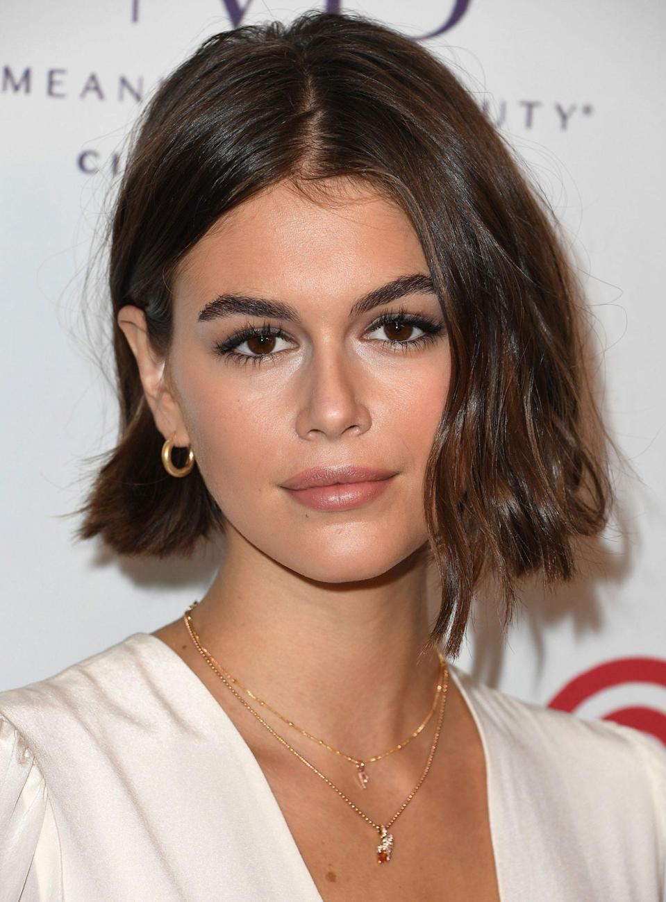 """<p>Try a middle part bob for a classic yet modernized look. Bergamy suggests using a thickener, as well as asking your stylist """"for a light layer or adding texture to the ends"""" for a more voluminous look.</p>"""