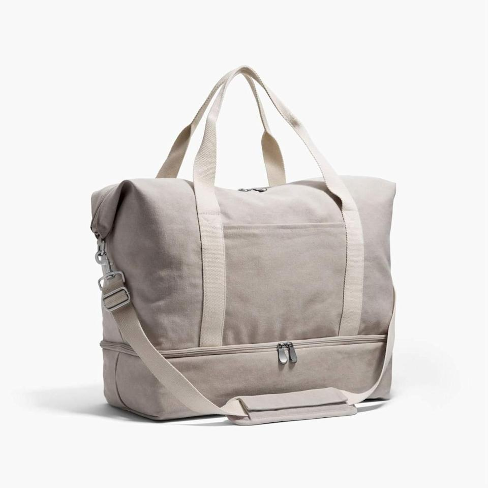 """<h2>Lo & Sons The Catalina Deluxe</h2><br>It's our second spring since the Pandemic hit and we are starting to smell wanderlust in the air. March shoppers were all about carting up new travel bags with family-owned and run Lo & Sons' bestselling <a href=""""https://www.refinery29.com/en-us/best-weekender-bags-for-women"""" rel=""""nofollow noopener"""" target=""""_blank"""" data-ylk=""""slk:Catalina Deluxe weekender"""" class=""""link rapid-noclick-resp"""">Catalina Deluxe weekender</a> at the tops of their carts. The washed-canvas style features a compact yet all-encompassing design with multiple compartments (including one for separate shoe storage) and convertible straps for adaptable toting (over-shoulder or cross-body).<br><br><em>Shop <strong><a href=""""https://www.loandsons.com/products/catalina-deluxe-washed-canvas-dove-grey"""" rel=""""nofollow noopener"""" target=""""_blank"""" data-ylk=""""slk:Lo & Sons"""" class=""""link rapid-noclick-resp"""">Lo & Sons</a></strong></em><br><br><strong>Lo & Sons</strong> The Catalina Deluxe, $, available at <a href=""""https://go.skimresources.com/?id=30283X879131&url=https%3A%2F%2Fwww.loandsons.com%2Fcollections%2Fsale%2Fproducts%2Fcatalina-deluxe-washed-canvas-dove-grey"""" rel=""""nofollow noopener"""" target=""""_blank"""" data-ylk=""""slk:Lo & Sons"""" class=""""link rapid-noclick-resp"""">Lo & Sons</a>"""