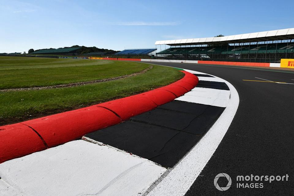 """A view across one of the kerbs at Silverstone<span class=""""copyright"""">Mark Sutton / Motorsport Images</span>"""