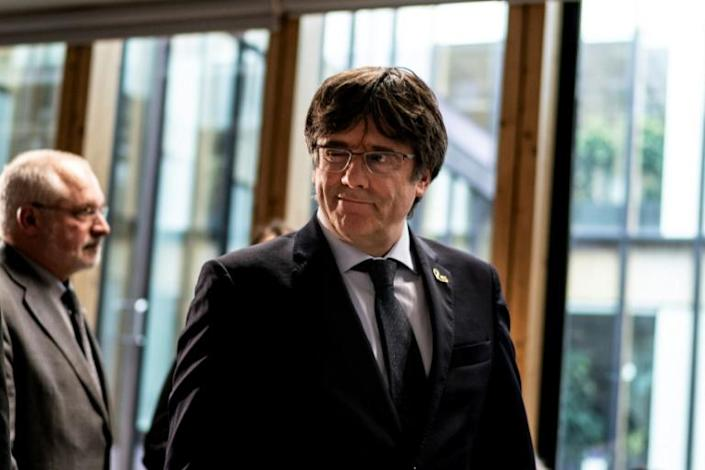 The Spanish justice system now has former Catalan president Carles Puigdemont in their sights, who fled to Belgium to avoid prosecution (AFP Photo/Kenzo TRIBOUILLARD)