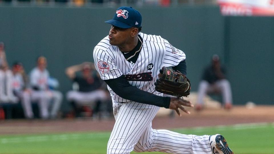 Luis Severino pitching for Somerset Patriots