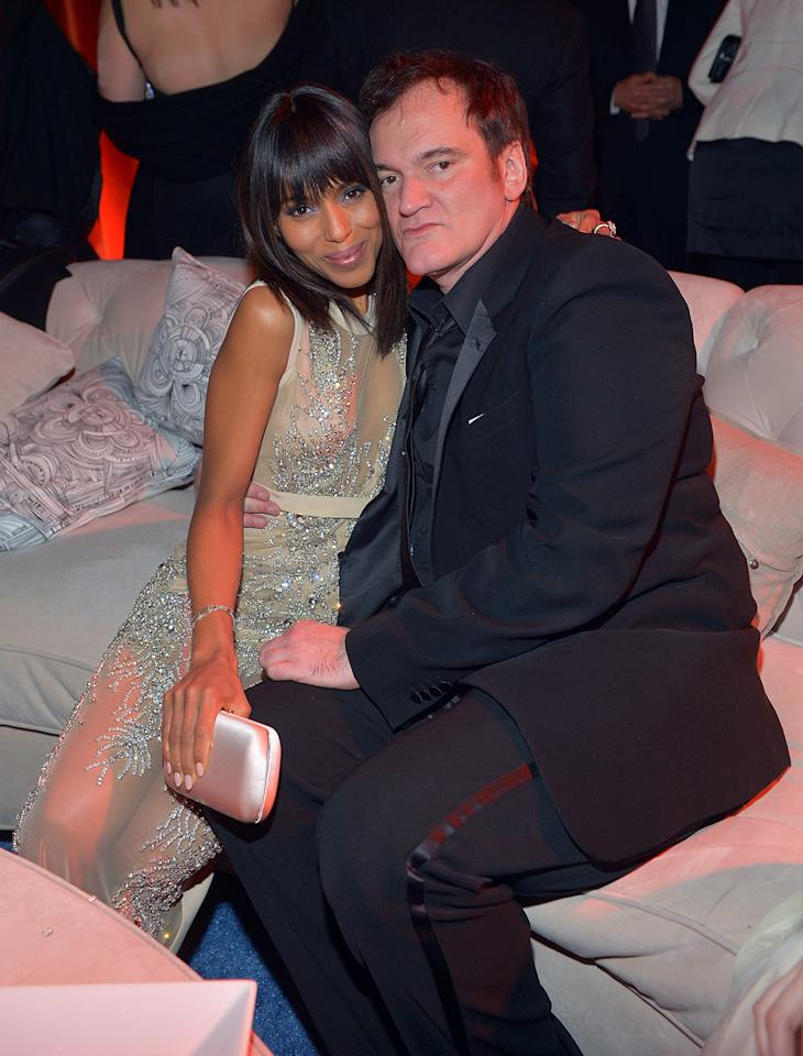 Kerry Washington and Quentin Tarantino attend The Weinstein Company's 2013 Golden Globe Awards After Party presented by Chopard held at The Old Trader Vic's at The Beverly Hilton Hotel on January 13, 2013 in Beverly Hills, California.