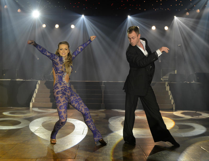 Ola Jordan, James Jordan performing at BBC Children in Need - An Evening With the Stars at Battersea Evolution on Wednesday October 17, 2012 in London. (Photo by Jon Furniss/Invision)