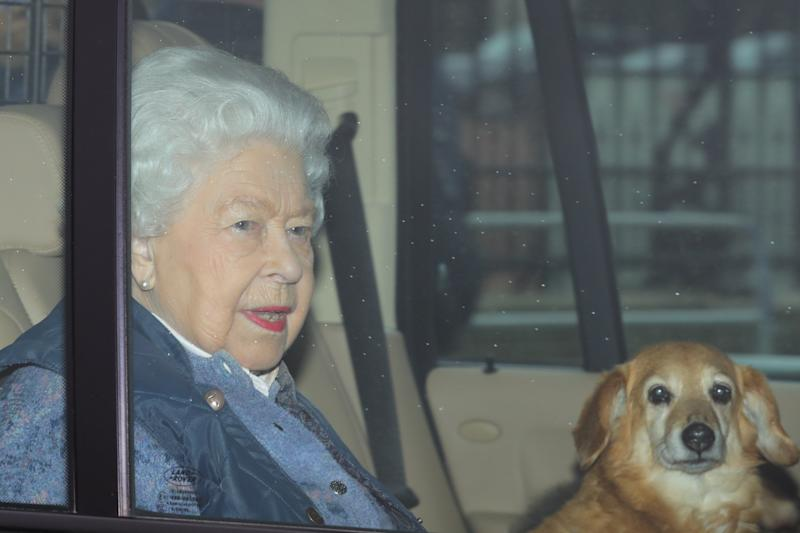 Queen Elizabeth II leaves Buckingham Palace, London, for Windsor Castle to socially distance herself amid the coronavirus pandemic. (Photo by Aaron Chown/PA Images via Getty Images)
