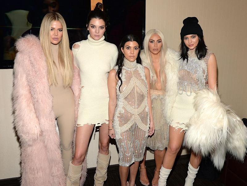 From L to R: Khloé Kardashian, Kendall Jenner, Kourtney Kardashian, Kim Kardashian West and Kylie Jenner | Kevin Mazur/Getty