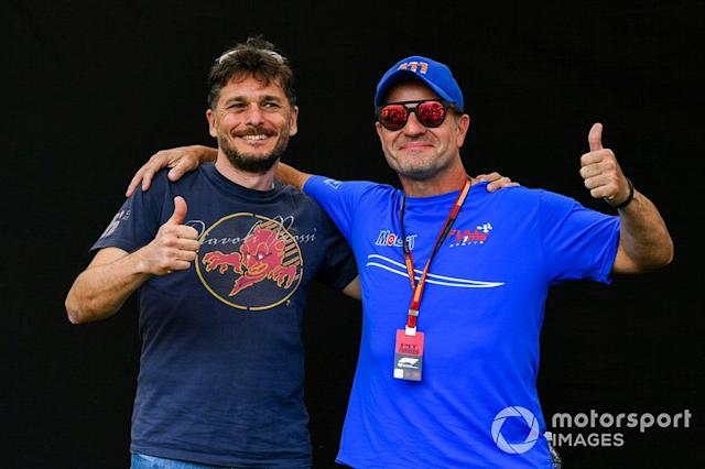 "Giancarlo Fisichella y Rubens Barrichello <span class=""copyright"">Mark Sutton / Motorsport Images</span>"