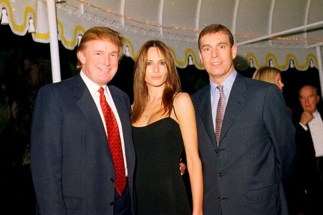 Trump, Knauss, & Prince Andrew At Mar-A-Lago