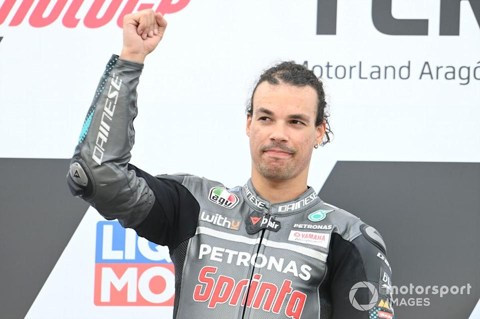 "Podio: Franco Morbidelli, Petronas Yamaha SRT<span class=""copyright"">Gold and Goose / Motorsport Images</span>"