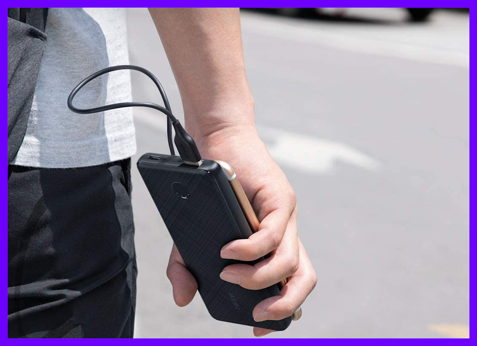 The phone-sized Anker PowerCore Slim 10000 PD won't weigh you down when you're on the move. (Photo: Amazon)