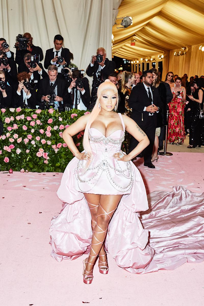 Nicki Minaj on the red carpet at the Met Gala in New York City on Monday, May 6th, 2019. Photograph by Amy Lombard for W Magazine.