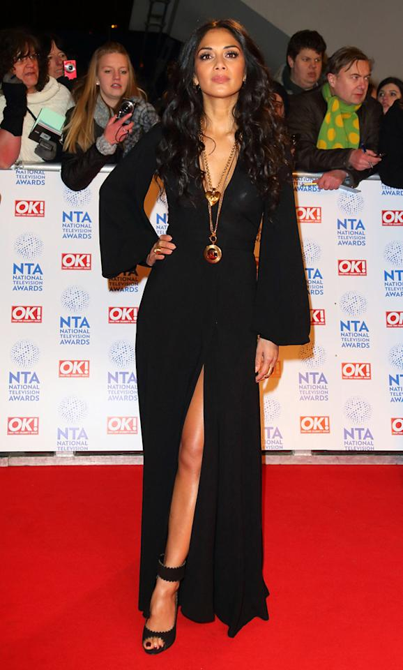 Nicole Scherzinger looked, as she would say, 'schermazing' in this plunging black dress. Copyright [getty]
