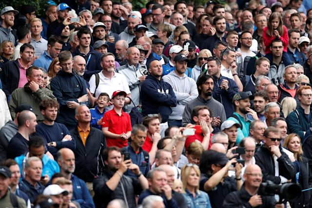 Golf - European Tour - BMW PGA Championship - Wentworth Club, Virginia Water, Britain - May 25, 2018 Spectators watch during the second round Action Images via Reuters/Paul Childs