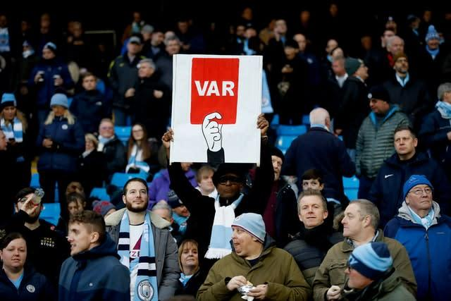 VAR was controversially introduced in the Premier League at the start of the 2019-20 season (Martin Rickett/PA)