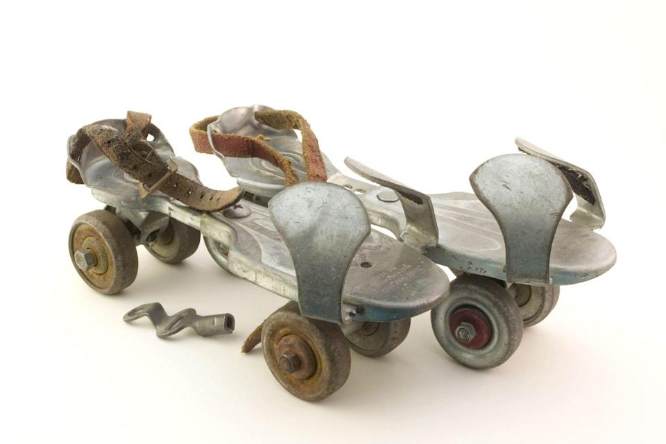 <p>Even with the skates right next to the keys, we bet your children still don't know why anyone would need those keys — metal roller skates once required a key to hand adjust the length and fit for the each person.</p>