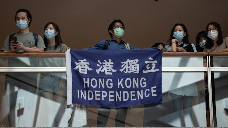 Protesters oppose Hong Kong's new national security law