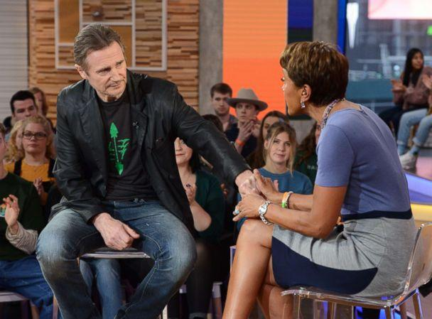 PHOTO: Liam Neeson appears on 'Good Morning America,' Feb. 2019. (Lorenzo Bevilaqua/ABC)