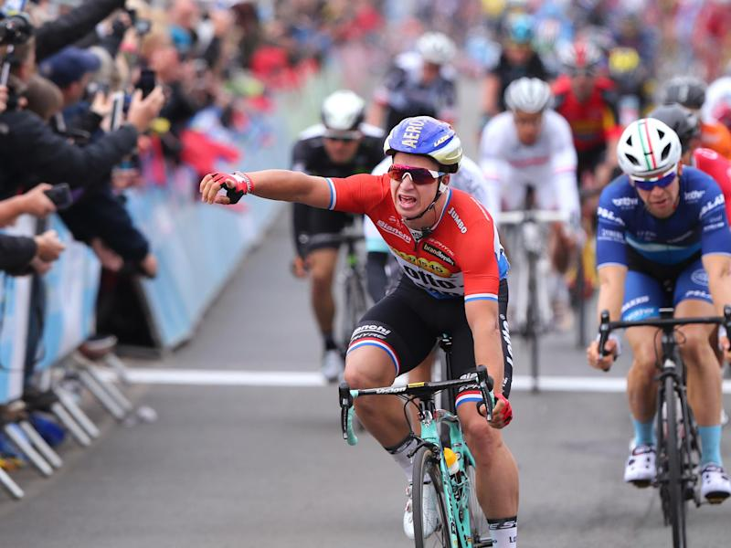 Groenewegen edged out Caleb Ewan to win the sprint finish: Getty