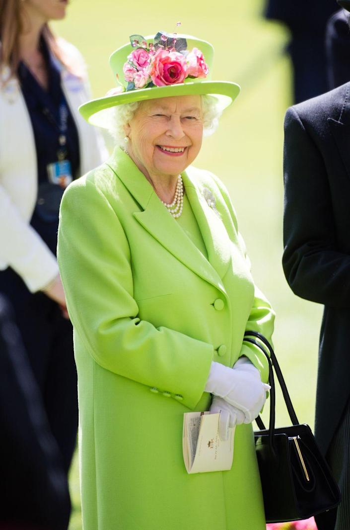 <p>Queen Elizabeth looked positively citrusy in lime green at the 2018 Royal Ascot. </p>