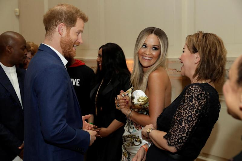 Rita Ora joins Prince Harry for duke's glamorous Sentebale charity concert