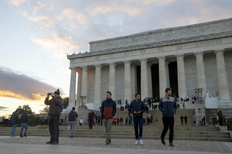 The Lincoln Memorial in Washington was among sites, along with Smithsonian museums, that remained accessible despite a partial US government shutdown