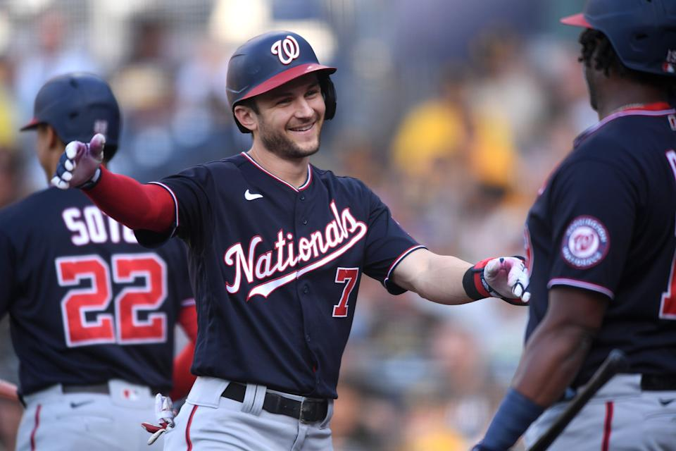 The Dodgers landed Trea Turner and Max Scherzer in a trade with the Nationals.
