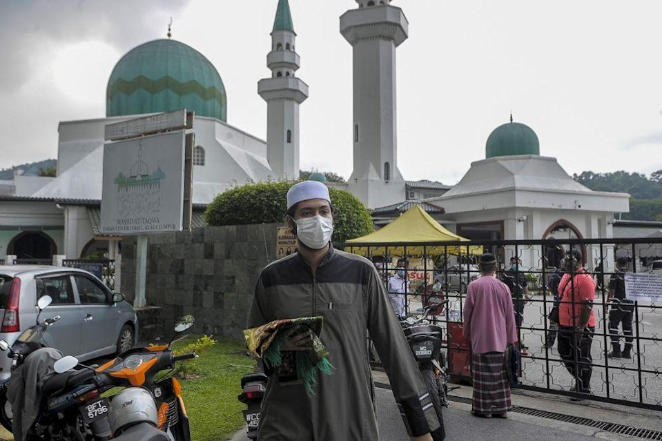 Muhammad Munir said the Sultan has emphasised that the decision made to limit the number of worshipers in mosques and surau statewide is to ensure the safety of all Muslims. — Picture by Shafwan Zaidon